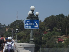 Los Angeles River (Anika Malone) Tags: sign walking losangeles tour bigparadela bigparadela2012