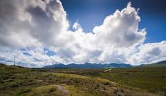 Twelve Bens with sky (filipmije) Tags: ireland sky green clouds landscape clare meadow connemara twelvebens connemaranationalpark