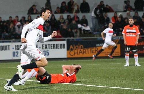 Javier Pastore qui égalise 1-1