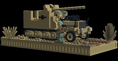 """On the Hunt""_ SdKfz 6/3 Diana (Florida Shoooter) Tags: lego german ww2 rommel ldd tankkiller panzerjager russianfieldgun sdkfz63diana 762cmfk36raufpzjgrselbstfahrlafettezugkraftwagen5tdiana"