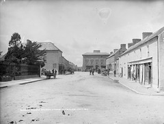 Market Square, Bagenalstown, Co. Carlow, late 19th century (National Library of Ireland on The Commons) Tags: trees ireland bicycle children suits donkey bakery material ladder cart cloths crate railings sugarbeet dung marketsquare policemen phelan glassnegative 1890s regulations carlow leinster robertfrench williamlawrence nationallibraryofireland bagenalstown fuls lawrencecollection lawrencephotographicproject federationforulsterlocalstudies federationoflocalhistorysocieties hkelly kellysdrapers