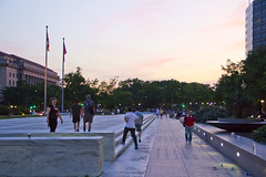 2012 05 19 - 7436 - DC - Survive DC (thisisbossi) Tags: usa washingtondc dc nw unitedstates northwest sigma sunsets runners bluehour evenings freedomplaza freedomsquare checkpoints  survivedc