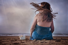 The Small Things... (Andrea Peipe) Tags: morning woman beach me self splash hairflip coffeesplash