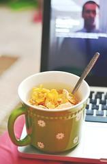 Mad Men (Thomessa) Tags: apple 50mm nikon cereal mug 18 frostedflakes madmen cerealkiller macbookpro d3100
