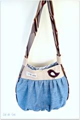 Eco-friendly versatile shoulder and backpack bag (Bouclenoire) Tags: bag recycled handmade sewing backpack denim shoulder tote necktie ecofriendly culdesac shoulderbag upcycled