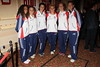 Members of the GB Ladies Olympic Hockey team 'Billy Elliot The Musical' celebrates their 7th anniversary and their 3000 performance at the West End, Victoria Palace Theatre London, England