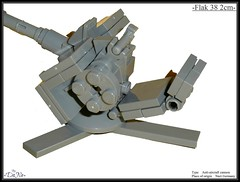 Lego -Flak 38 3.8cm- (=DoNe=) Tags: world 2 model war gun lego german flak 38 antiaircraft