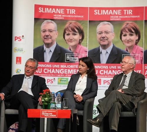 Cécile Duflot et Slimane Tir