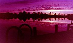 Dockside Sunset (ptpomber) Tags: sunset film canon eos michigan rapids elk aps ix
