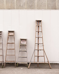 Ladder Collection (Chicken®) Tags: seattle stilllife usa wall wooden washington different collection getty multiple ballard ladder craftsman tool variation ladders notastep