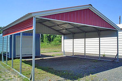 20x20 Carport with Extra Protection Using Short Sidewalls (EZCarports.com) Tags: carport doublewide sidewalls metalcarport wwwezcarportscom