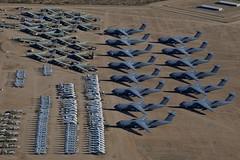 Aerial View, Lockheed C-5 Galaxies, Boeing B-52s, Assorted Helicopters, AMARG Boneyard (Peter Cook UK) Tags: arizona tucson aerialview boneyard amarg lockheedc5galaxy boeingb52