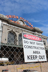 Union Closed (tracktwentynine) Tags: constructionarea denver unionstation keepout denverunionstation
