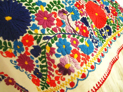 Colorful Mexican embroidery (Aida Coronado Galeria) Tags: summer art angel vintage mexico katrina clothing colorful dress folk mexican textile dresses boho catrina embroidered mexicano maxi vestido whimsical peasant angelita minidresses vestidodenovia dayofthedeath maxidresses vestidomexicano aidacoronado vestidobordadomexicano