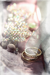 with these rings (Dreemrr) Tags: wedding beads pretty bokeh anniversary sparkle rings ribbon pearl delicate pearly