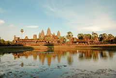 Angkor Wat at sundown
