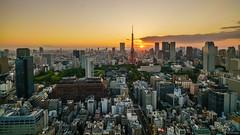 Tokyo Sunset (shiroooooooo) Tags: sunset nature japan skyline landscape tokyo cityscape tokyotower