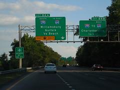 I 295 Signs (jimmywayne) Tags: sign virginia norfolk richmond 64 williamsburg interstate charlottesville 95 85 295 i295