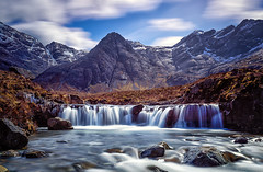 Fairy Pools Cuillin Hills (StuMcMillan) Tags: uk longexposure trip sky mountain snow colour skye fall water clouds canon landscape outside climb scotland waterfall alone view hiking hill stuart hills highland fairy le pools 5d mcmillan mkii 2016 stuartmcmillan wwwstuartmcmillanphotographycom