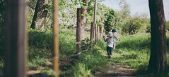 Young adventurers II (JuNu_photography) Tags: tree green nature grass childhood canon fence walking children eos 50mm spring child outdoor path mark iii joy adventure together 5d 12 ef f12 5d3