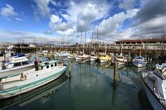 reflection boats (gianluca.bussolari) Tags: sanfrancisco california usa colors boats nikon san francisco colore harbour barche porto colori riflessi ormeggio d7100