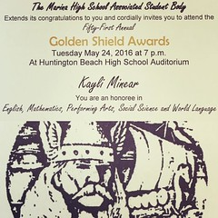 Golem Shield Awards #kayli #proudparent #mhs #classof2016 #senior #highschool (MomTo3Girls3Boys ~ Cindy) Tags: square squareformat rise iphoneography instagramapp uploaded:by=instagram