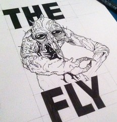 The Fly (ZZFX) Tags: detail art film pencil dark painting paper weird sketch scary paint artist drawing vampire zombie character horror create concept spawn fx darkart spfx zzfx