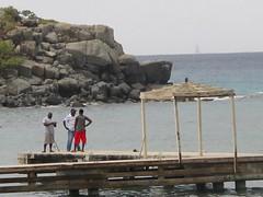 Guys on the Dock - BVI (verplanck) Tags: water dock rocks bvi virgingorda