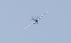 Head on ..... (Halliwell_Michael ## Offline mostlyl ##) Tags: blue sky aircraft historic spitfire westyorkshire brighouse 2016 flypast battleofbritainmemorialflight nikond40x brighouse1940sweekend brighouse1940swe