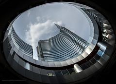IMGP8704 ([masterleo]) Tags: milan colors pentax milano fisheye grattacielo palazzo unicredit geometries