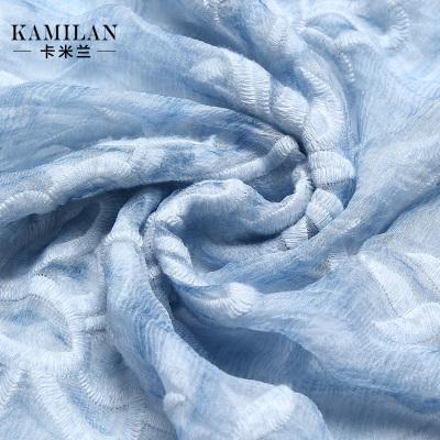 Milan summer 2016 new openwork embroidery silk