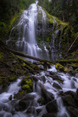 Proxy Falls (Greg Mombert) Tags: county mist green water oregon creek landscape waterfall moss stream outdoor falls waterfalls lane column cascade mckenzie basalt proxy