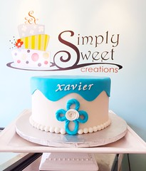 6.25.16 (Simply Sweet Creations) Tags: christeningcake baptismcake bluechristeningcake bluebaptismcake