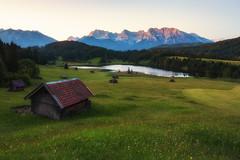 Geroldsee und Karwendelgebirge, Sonnenaufgang-5251 (Holger Losekann) Tags: krn bayern deutschland de bavaria sonnenaufgang sunrise geroldsee landschaft landscape