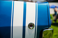 White on B5 (GmanViz) Tags: color detail car nikon automobile stripes bumper fender dodge 1968 rt charger markerlight bumblebeestripes gmanviz d7000