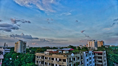 DSC00118_HDR (fahd.b.iqbal) Tags: blue sunset sky tree green birds yellow clouds landscape photography sony dhaka alpha bangladesh hdr gulshan hdrphotography a6300