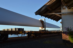 Traveling turbine (Don's View) Tags: railroad train bnsf windturbine freighttrain