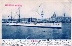 1895-1905 - SALAZIE (MIKOS-35) Tags: les paquebots postes des messageries avaient une livre blanche lorsquils taient sur la ligne dextrmeorient sagon japon et coque noire autres lignes