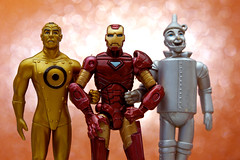 Ternary Allies (JD Hancock) Tags: friends favorite comics fun toy actionfigure gold action bokeh ironman cc figure scifi comicbooks dccomics marvelcomics tinman 1k thewizardofoz theotherside metalmen macromondays theperiodictable jdhancock