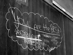Best Person Ever (abbynormy) Tags: school person chalk best teacher blackboard teacherspet holyfamilyschool