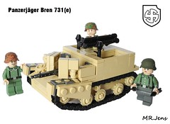 Panzerjger Bren 731(e)  WWII LEGO (MR. Jens) Tags: world two war wiking lego wwii ss german ww2 british universal carrier bren brickarms brickmania