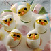 Baby Chicks Deviled Eggs from www MealMakeoverMoms comkitchen