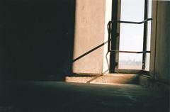 Olsen 6th Floor (timustache) Tags: film kodak massachusetts stairwell 100 lowell uml ektar konicaautoreflext3 hexanonar50mmf14