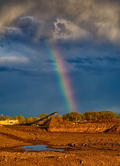 I found the pot of gold... (Fort Photo) Tags: light sky storm nature weather skyscape landscape rainbow nikon colorado fortcollins stormy pit bow co gravel ftc potofgold clff d700 2012a