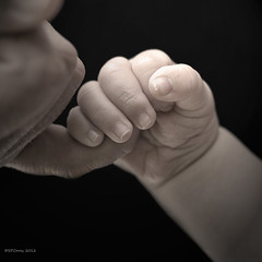 Mother and Infant Bond (Steve Corey) Tags: family baby youth child union mother trust innocence bond littleones handinhand beautifulbaby