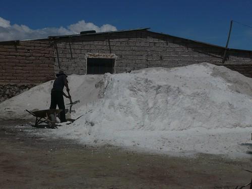 Shovelling cocaine--I mean salt