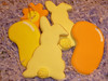 Bunnies and Beans! (steamboatwillie33) Tags: orange holiday flower bunnies kitchen cookies grass yellow out easter dessert beans cookie purple sweet cut royal sugar grandkids jelly cutter tails 2012 decorated sanding macromavens