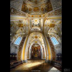 Let there be Light (HDR Vertorama) (farbspiel) Tags: church photoshop germany bayern nikon interior basilica handheld deu hdr kempten photomatix vertorama d7000 nikonafsdxnikkor1024mmf3545ged