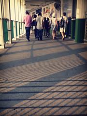 arrival (Fion N.) Tags: life city urban hongkong living publictransportation transportation starferry 城市 香港 生活 gf1 天星小輪 panasoniclumixgf1 公共交通工具