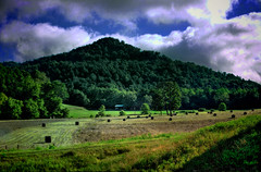 Harvest (Mason Photographics) Tags: trees fall grass canon shed harvest wv westvirginia hay bales hdr
